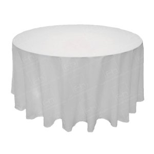 108 Inch Round White Tablecloth