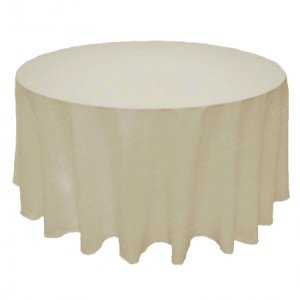 118 inch Round Ivory Tablecloth