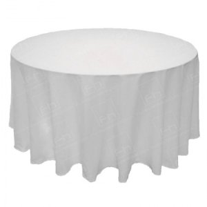 120 Inch Round White Tablecloth