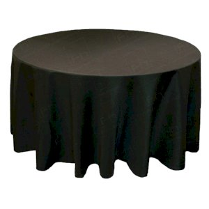 130 Inch Round Black Tablecloth