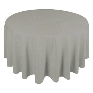 130 Inch Round Dove Grey Tablecloth