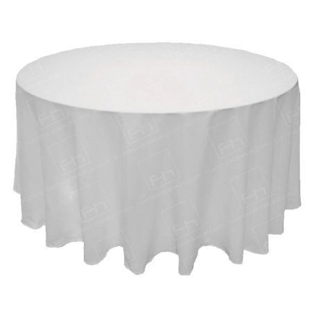 1830mm Round Table Cloth - White