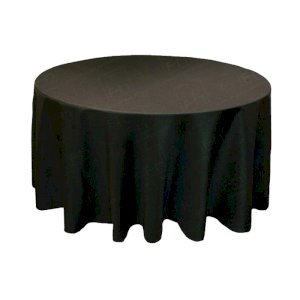 88 Inch Round Black Tablecloth