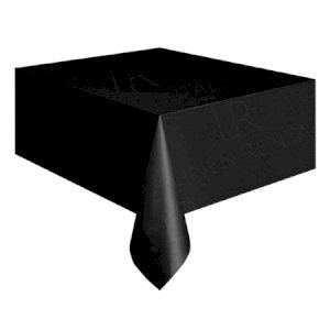 90 x 90 Inch Black Square Tablecloth