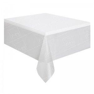 90 x 90 Inch White Square Tablecloth