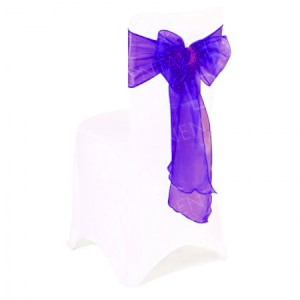 Cadbury Purple Organza Chair Bow