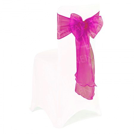 Cerise Pink Chair Bow