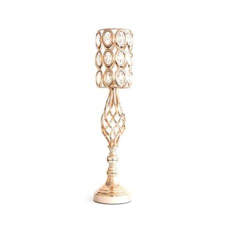Crystal Candle Holder Gold