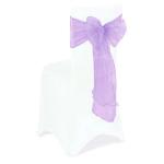 Lavender Organza Chair Bow