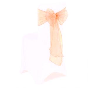 Peach Organza Chair Bow