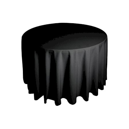 3ft Round Tablecloth - Black