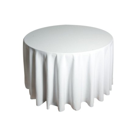 3ft Round Tablecloth - White