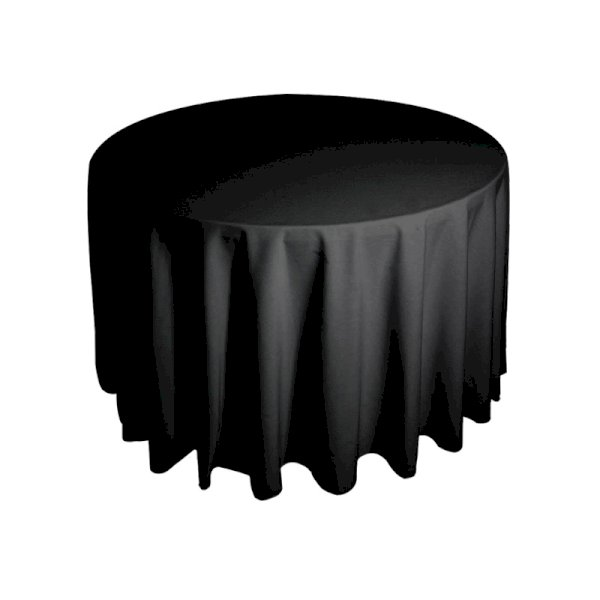 4ft Round Tablecloth - Black
