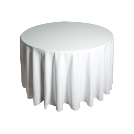 4ft Round Tablecloth - White