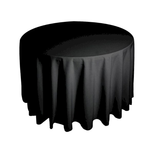 5ft Round Tablecloth - Black