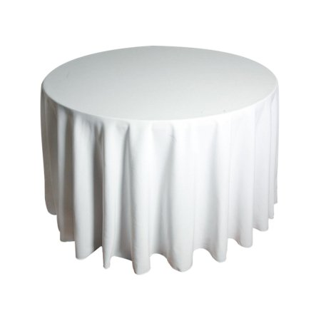5ft Round Tablecloth - White