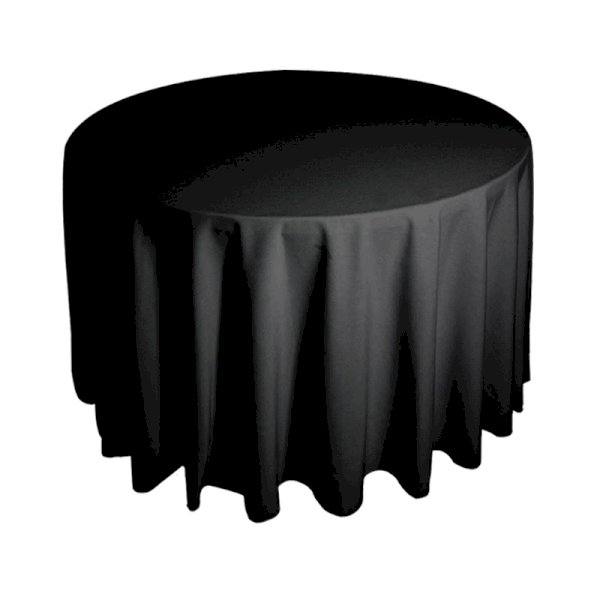 5ft6 Round Tablecloth - Black