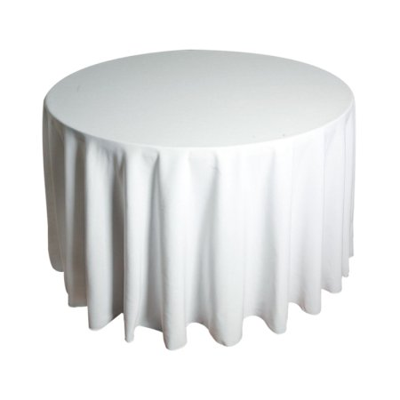 5ft6 Round Tablecloth - White