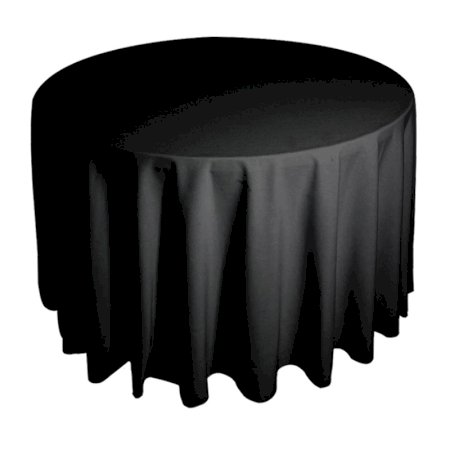6ft Round Tablecloth - Black