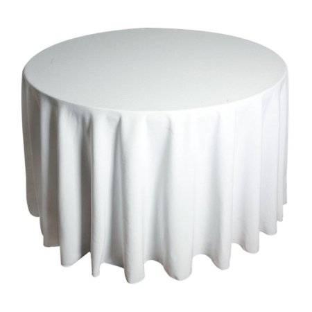 6ft Round Tablecloth - White