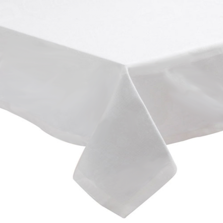 70 x 70 Inch Tablecloth - White