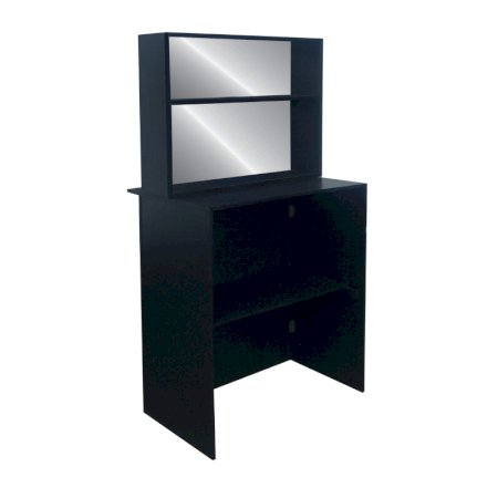 Back Bar with Shelf 1m - Black