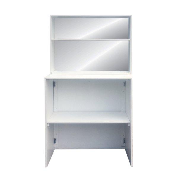 Back Bar with Shelf 1m - White