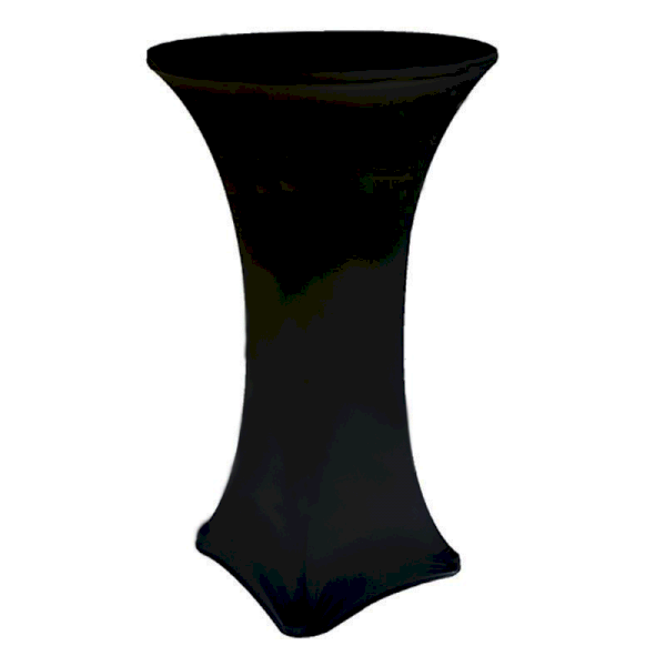 Black Fitted Poseur Table Cover