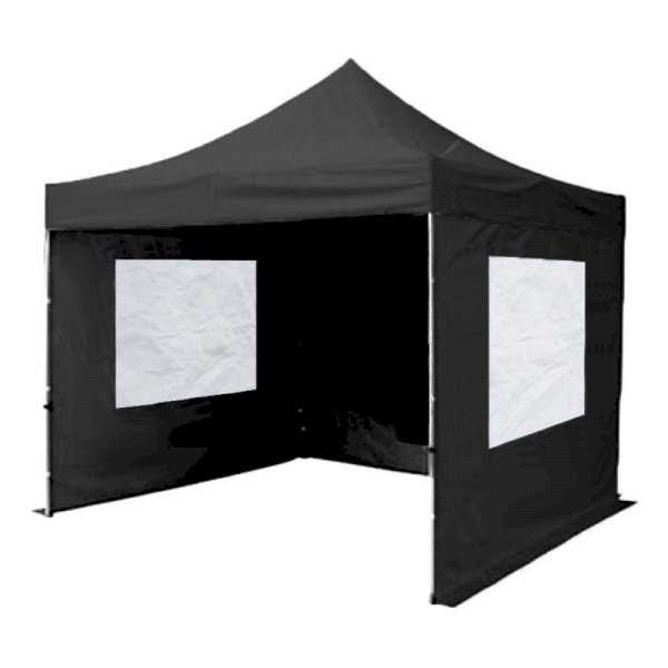 Black Gazebo With Sides 3m x 3m