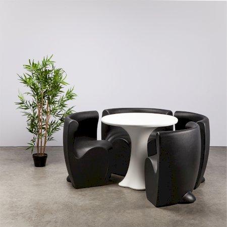 Black Petal Dining Set