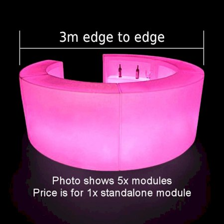 Curved LED Colour-Changing Bar Section