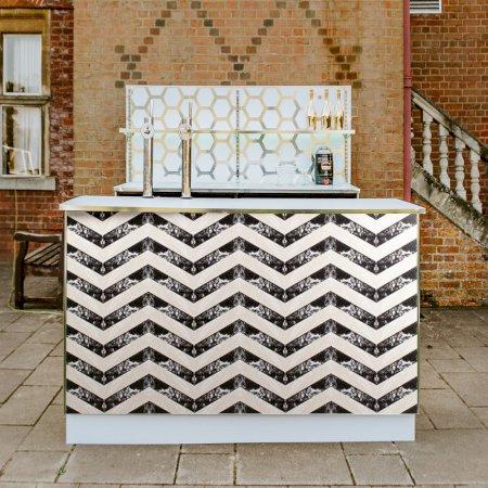 Geometric Bar Black & Cream - 2m Unit