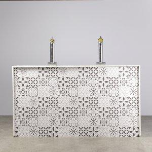 Grey Tile Bar - 2m Unit