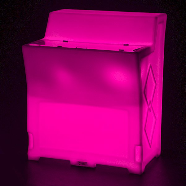 Straight LED Colour-Changing Bar with Ice Chest