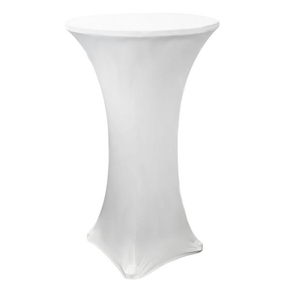 White Fitted Poseur Table Cover