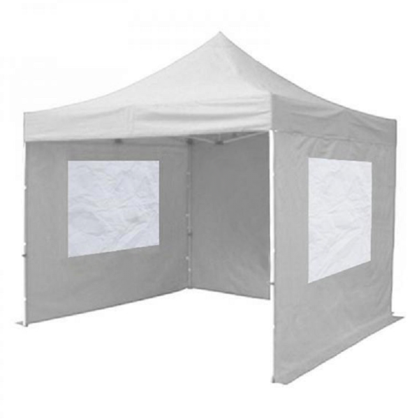 White Gazebo With Sides 3m x 3m