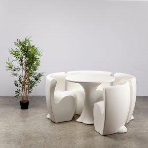White Petal Dining Set