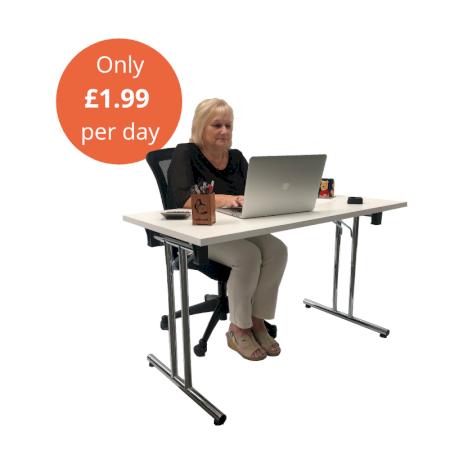 https://www.onlinefurniturehire.com/Package B - Desk & Ergonomic Chair