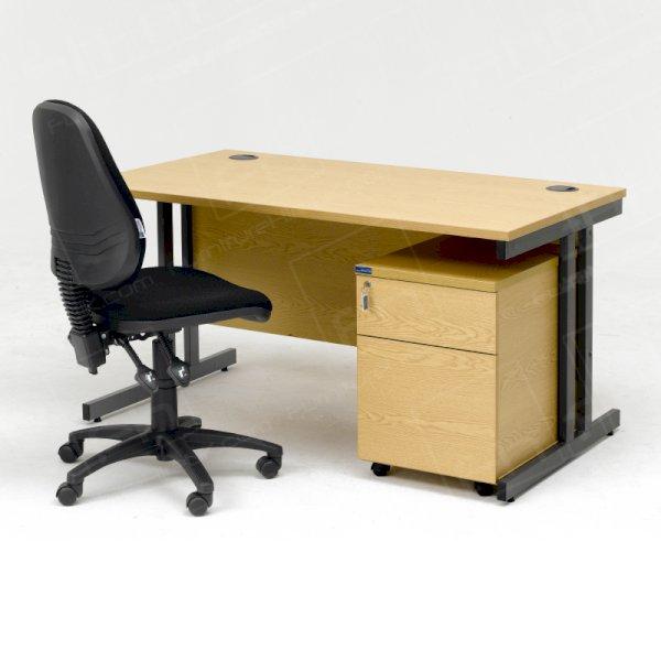 Desk, Pedestal & Chair - Package A