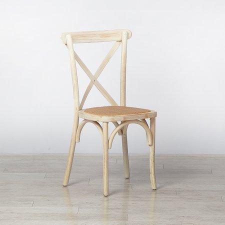 Limewash Cross Back Chair