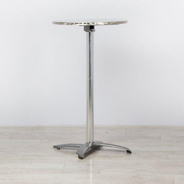Chrome Poseur Table Flip-Top