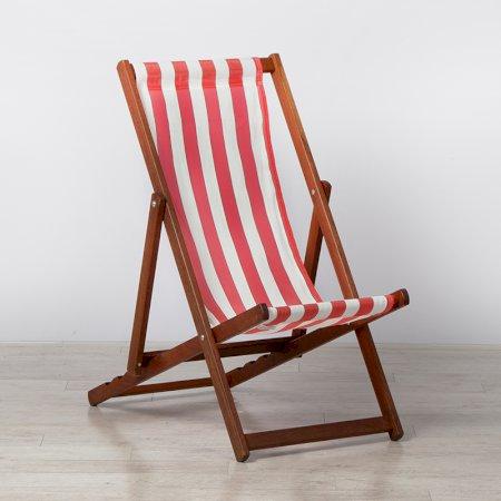 Red Stripe Deckchair