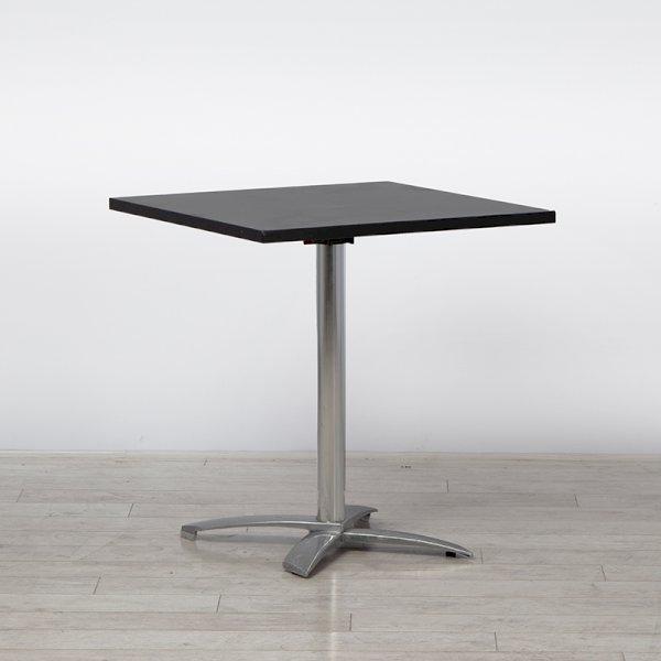 Square Bistro Table Black - 800mm Flip-Top