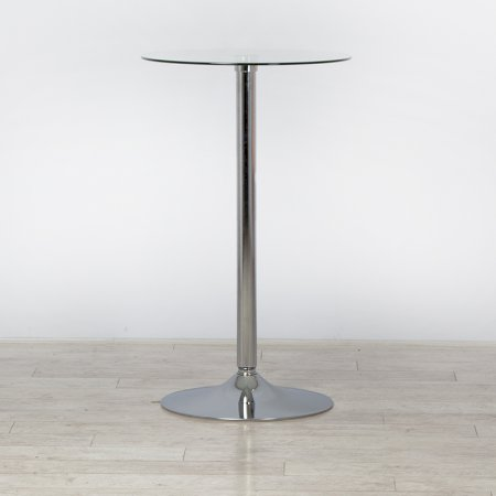 Round Glass Poseur Table