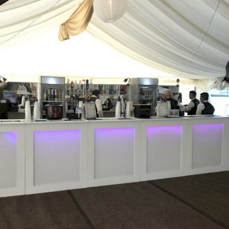 White Backlit Bar - 1m Unit